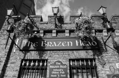 The Brazen Head is officially Ireland's oldest pub, dating back to 1198
